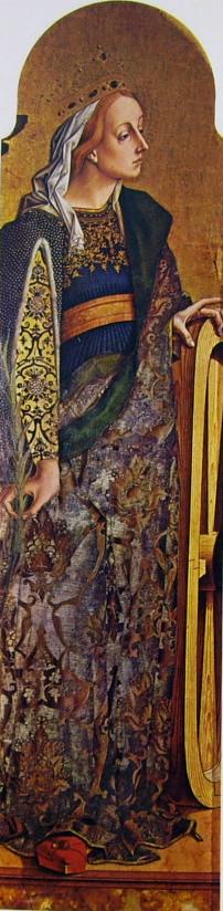 Carlo Crivelli: Polittico di Montefiore - Santa Caterina d'Alessandria