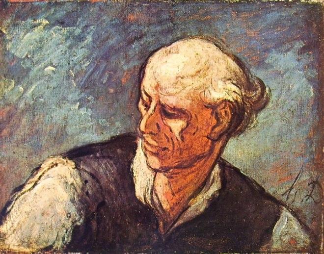 Honoré Daumier: Testa maschile