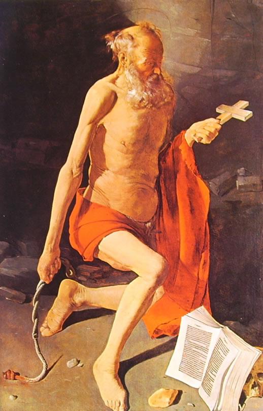 Georges de La Tour: San Gerolamo penitente con aureola