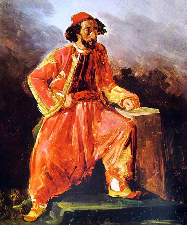Eugène Delacroix: Turco seduto