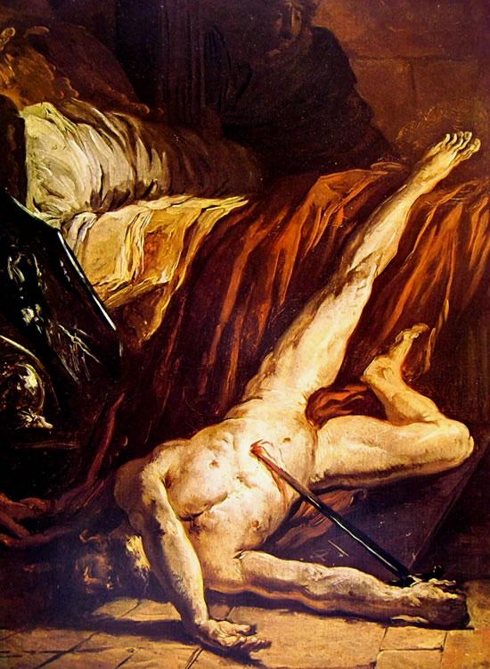 Le opere di Delacroix: La morte di Catone