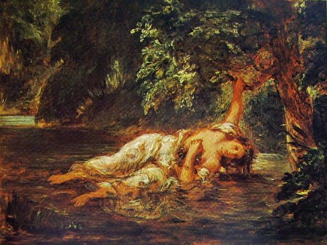 Eugène Delacroix: La morte di Ofelia