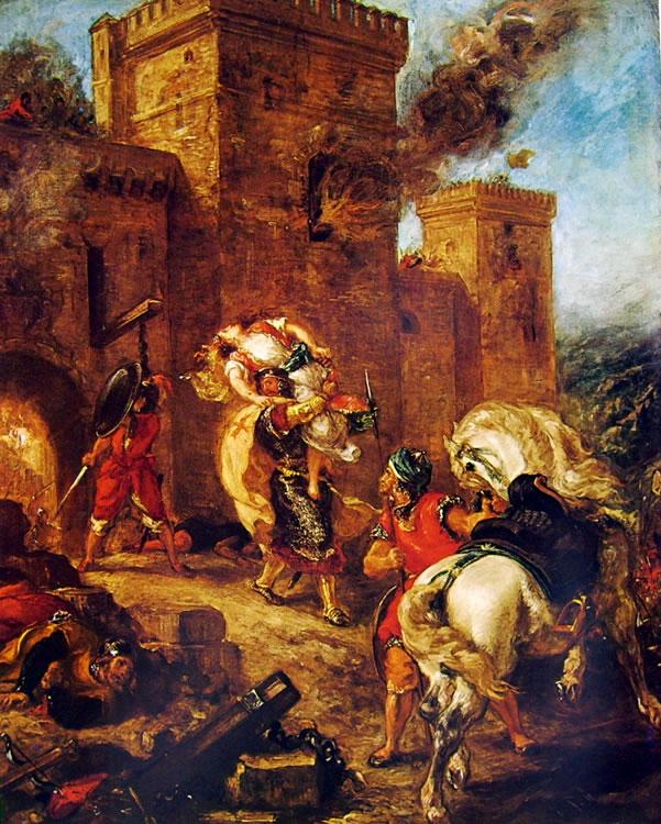Eugène Delacroix: Il rapimento di Rebecca