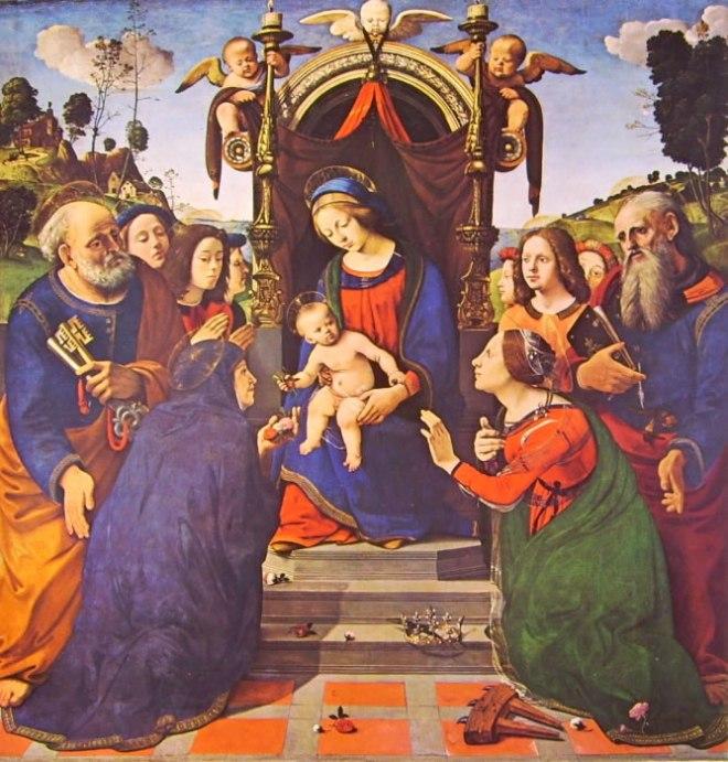 Piero di Cosimo: Madonna con il Bambino angeli e santi