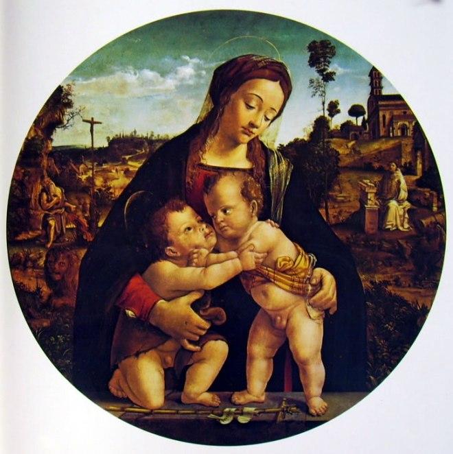 Piero di Cosimo: Madonna con il Bambino e San Giovannino