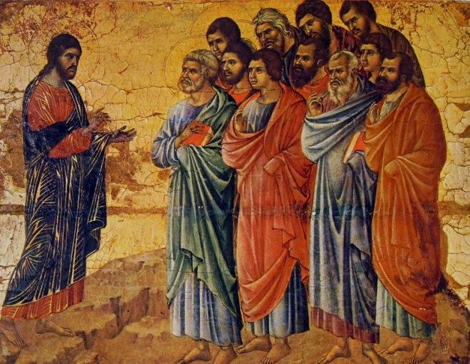 Duccio di Buoninsegna: Maestà - L'Apparizione di Cristo sul monte della Galilea