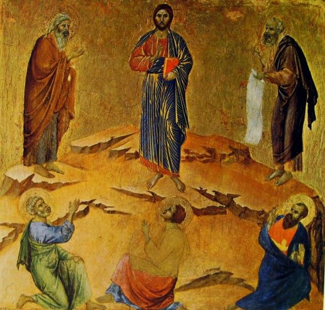 Predella (verso) - La Trasfigurazione