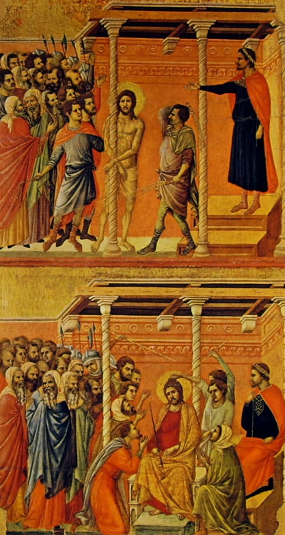 Duccio di Buoninsegna: Maestà - La Flagellazione e L'Incoronazione di spine