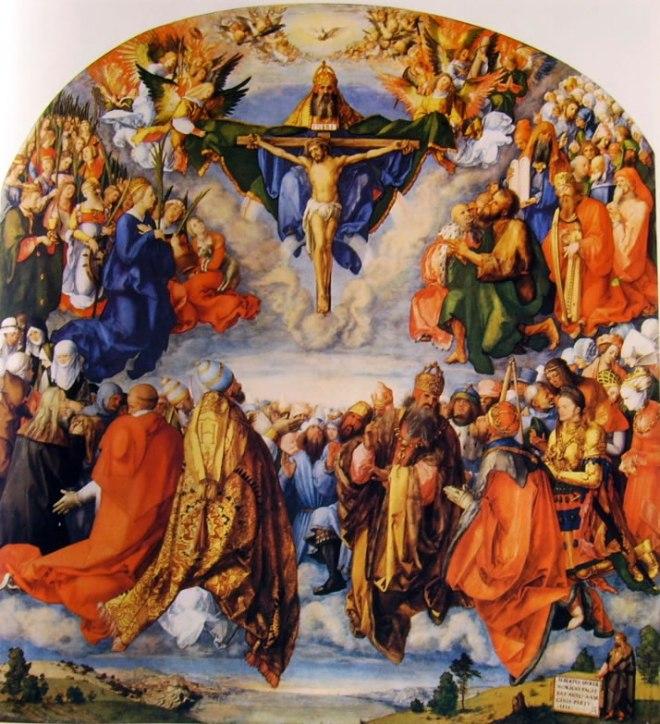 Albrecht Dürer: Adorazione della Santissima Trinità