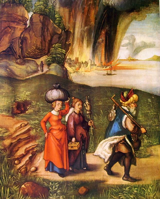 Albrecht Dürer: Lot e le figlie (La fuga di Sodoma)