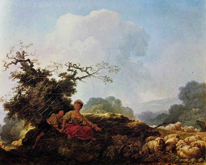 Jean-Honoré Fragonard: Annette e Lubin