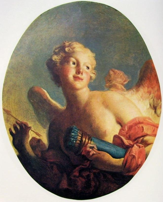 Jean-Honoré Fragonard: Maria Catherine Colombe come Cupido