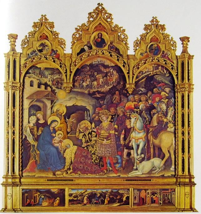 Gentile da Fabriano: Pala dell'adorazione dei magi