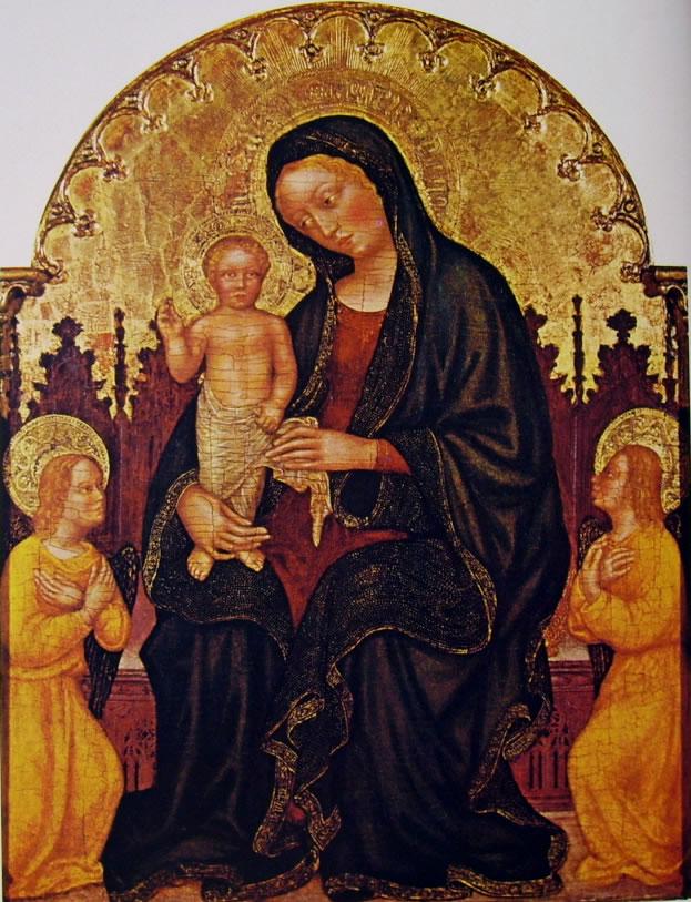 Gentile da Fabriano: Madonna con il bambino e due angeli