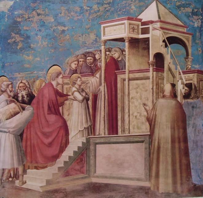 Giotto: La presentazione di Maria al Tempio