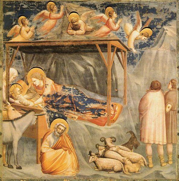 Giotto: La Natività e l'annuncio ai pastori