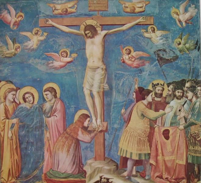 La crocifissione, Cappella degli Scrovegni, Padova.