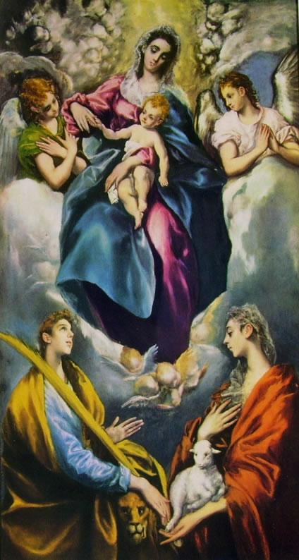 El Greco: Madonna con il Bambino e le sante Martina e Agnese
