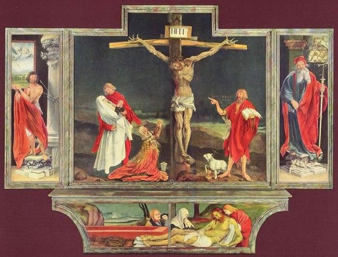 Matthias Grünewald: Altare di Isenheim - Crocifissione