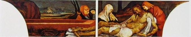 Matthias Grünewald: Altare di Isenheim - Compianto su Cristo