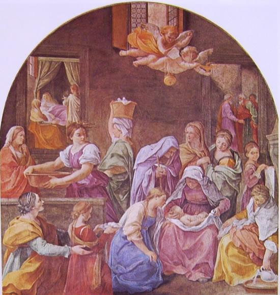 Dipinti nel palazzo del Quirinale: La nascita della Vergine