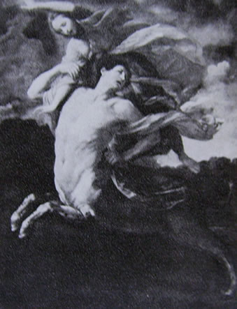 Ercole e Deianira, cm. 257 x 195, Galleria del Castello, Praga