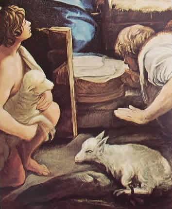 Particolare n° 2 dell'Adorazione dei pastori