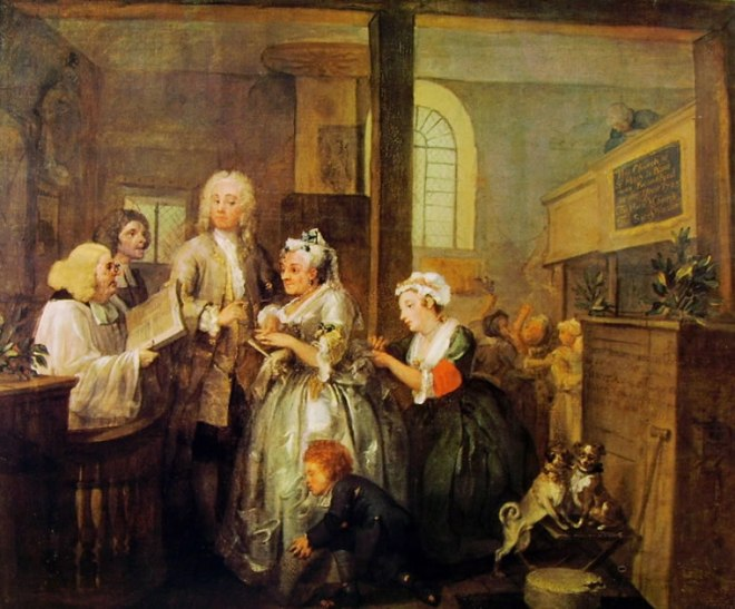 William Hogarth: La carriera del libertino - Il matrimonio
