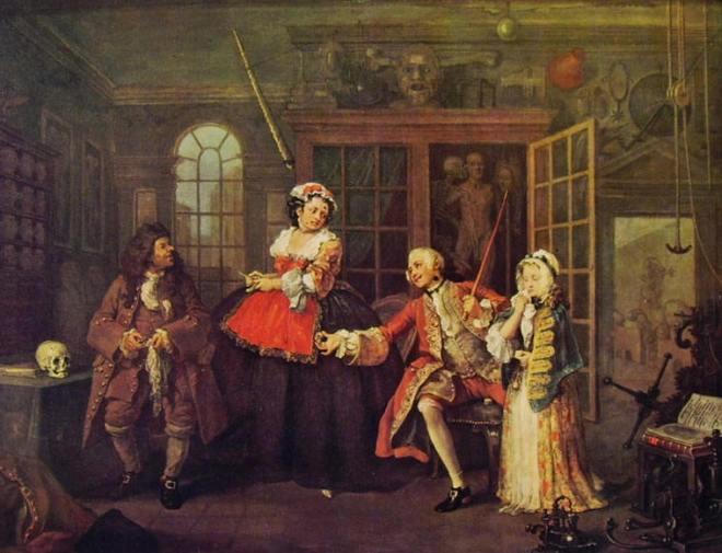 William Hogarth: Il matrimonio alla moda - Dal ciarlatano