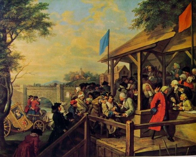 William Hogarth: La campagna elettorale - La votazione