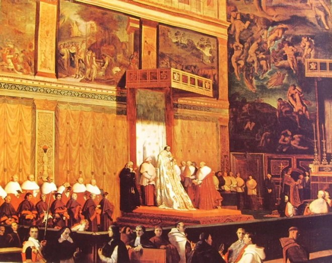 Jean-Auguste-Dominique Ingres: Interno della cappella Sistina