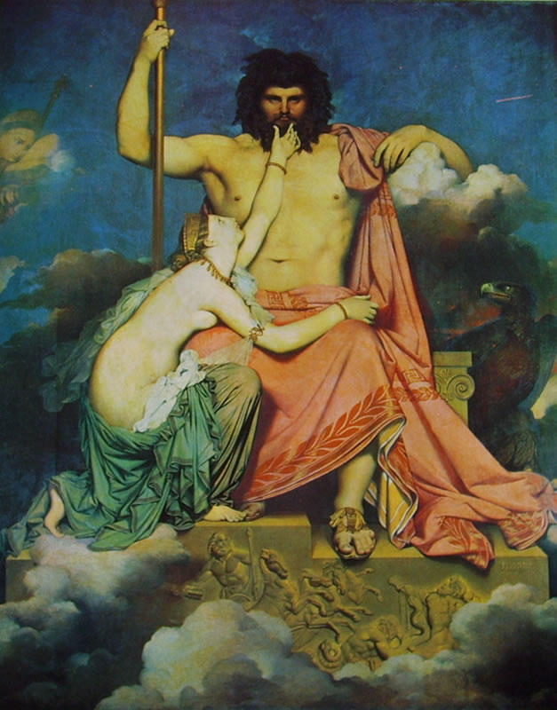 Jean-Auguste-Dominique Ingres: Giove implorato da Teti