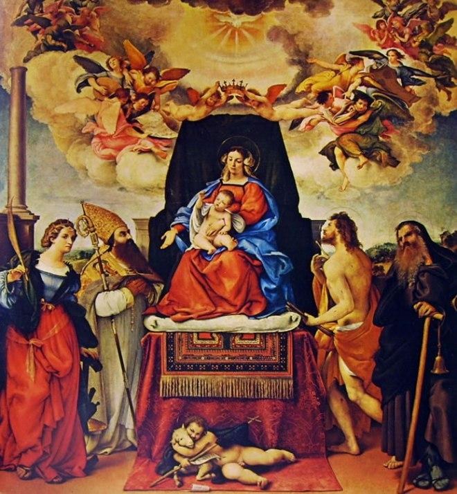 Lorenzo Lotto: Madonna con il bambino e i santi