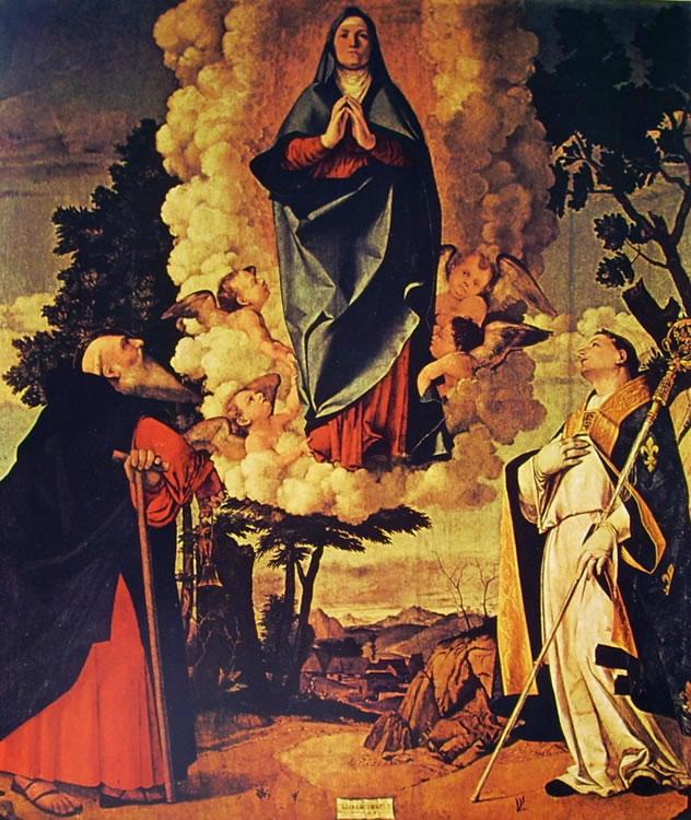 Lorenzo Lotto: Assunzione della Vergine con i santi Antonio Abate e Ludovico da Tolosa