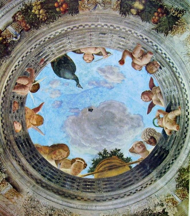 Mantegna: Camera degli sposi - Oculo del soffitto