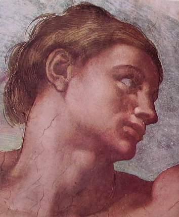 Michelangelo - Soffitto della Cappella Sistina, particolare della creazione di Adamo