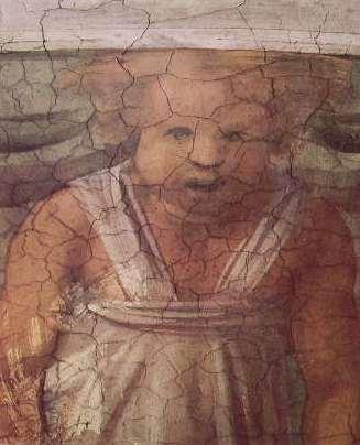 Particolare della volta della Cappella Sistina, Daniele