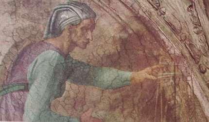 Michelangelo - Cappella Sistina, particolare delle Figure della Lunetta