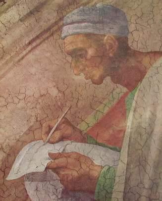 Il Michelangelo - Giudizio Universale, Cappella Sistina particolare di una Lunetta