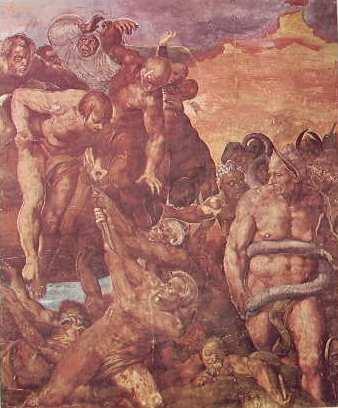 Michelangelo - i dannati con demoni e Minosse, Il Giudizio Universale