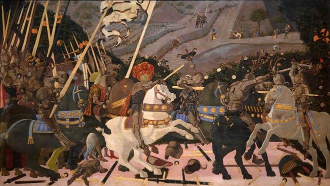 Paolo Uccello: Battaglia di San Romano - Niccolò da Tolentino alla testa dei fiorentini