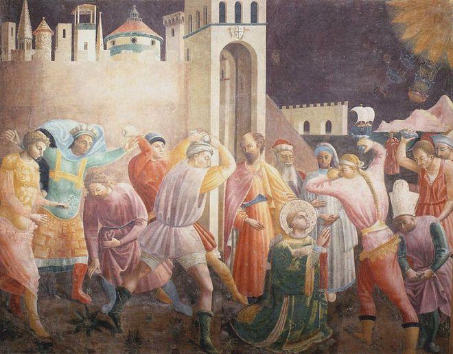 Paolo Uccello: Cappella dell'Assunta - Lapidazione di Santo Stefano