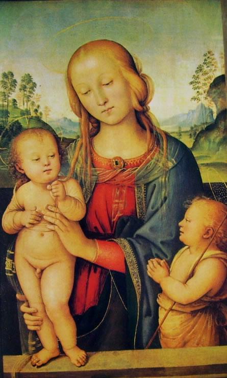 Il Perugino: Madonna con il Bambino e San Giovannino