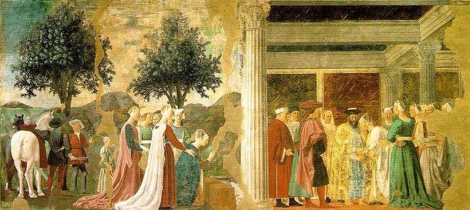 Adorazione del legno e l'incontro con Salomone con la regina di Saba