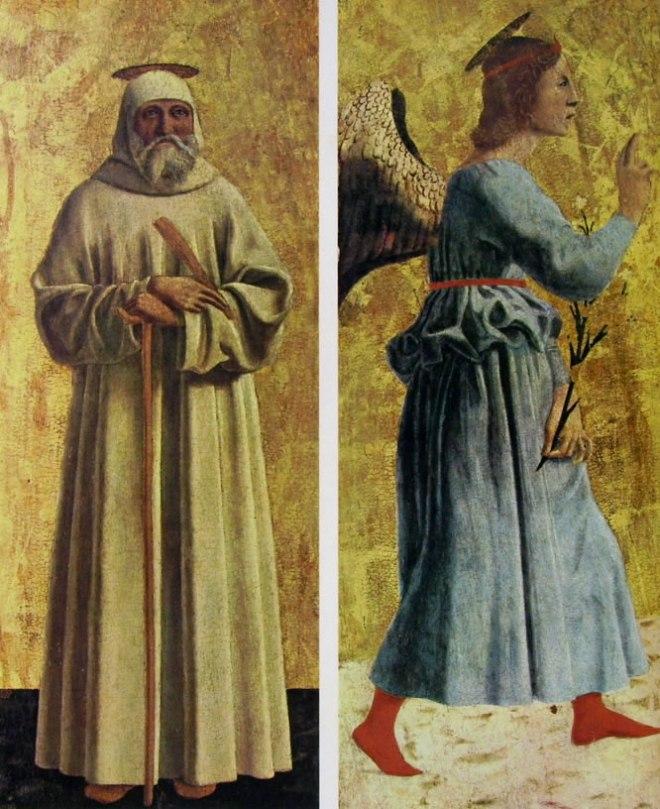 Piero della Francesca: San Benedetto da Norcia ed Angelo annunziante