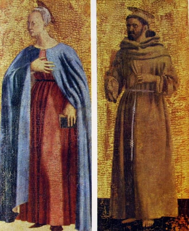 Piero della Francesca: Vergine Annunziata e San Francesco di Assisi