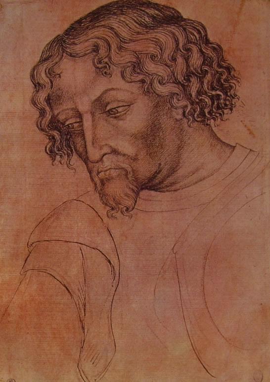 Pisanello: Testa d'uomo con pizzetto