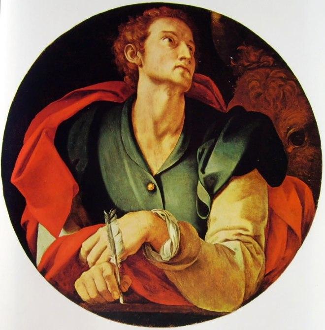Decorazione della Cappella Capponi - San Luca, diam. cm. 70, Santa Felicita, Firenze