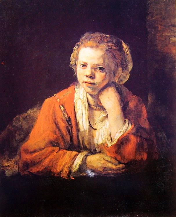 Rembrandt Harmenszoon Van Rijn: Fanciulla alla finestra