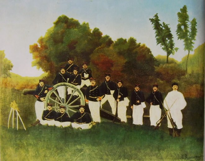 Rousseau il Doganiere: Artiglieri
